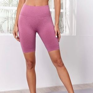 Pink High waisted Booty Contouring Biker Shorts